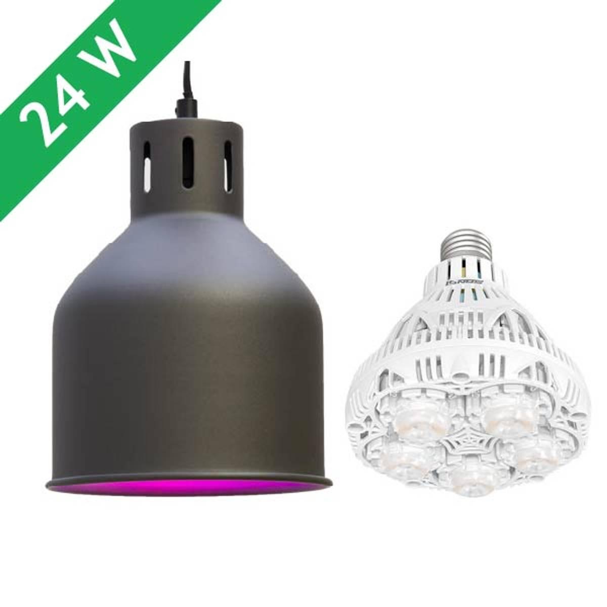 Saga armatur 'grå' med LED-pære 24 W